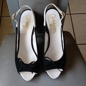 CHANEL Shoes - Authentic Pretty Chanel Slingback shoes Italy
